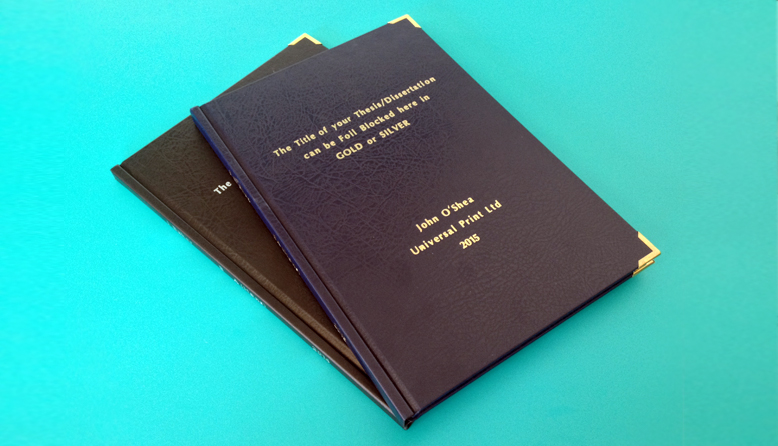Thesis dissertation binding